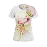 Flamingo Life Tropical Flamingo Womens T-Shirt - The Flamingo Shop