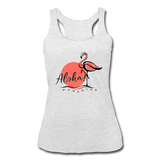 Aloha Paradise Women's Tri-Blend Racerback Tank - The Flamingo Shop