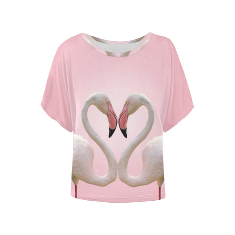 Flamingo Love Boxy Tee - The Flamingo Shop