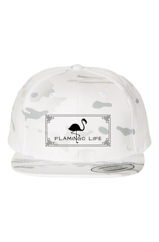 Flamingo Life Embroidered Camo Hat - The Flamingo Shop