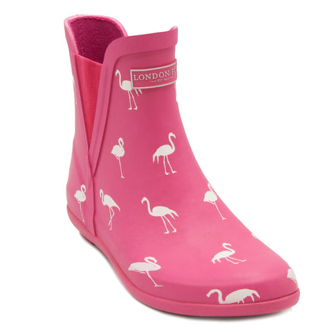 London Fog  Women's Flamingo Waterproof Rain Boots - The Flamingo Shop