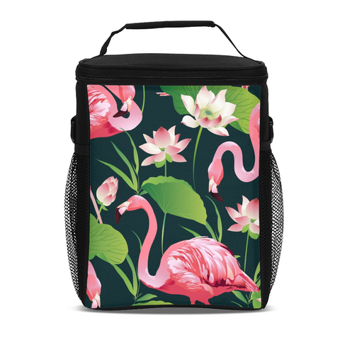 Flamingo Life Flamingo Flower Tall Insulated Lunch Bag - The Flamingo Shop