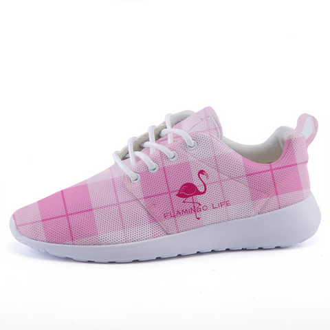 Flamingo Life Pink Argyle Lightweight Sneakers in Mens and Womens - The Flamingo Shop