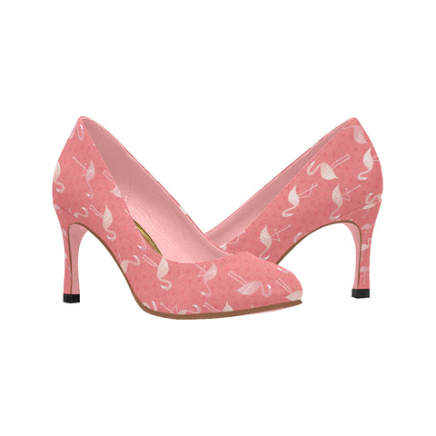 Pink Dots and Flamingos Heels