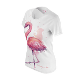 Watercolor Flamingo Life Eco Friendly T-Shirt - The Flamingo Shop