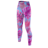 Flamingo Life Tropical Leaves Leggings - The Flamingo Shop
