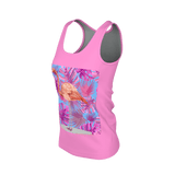 Flamingo Life Tropical Leaves Womens Tank - The Flamingo Shop