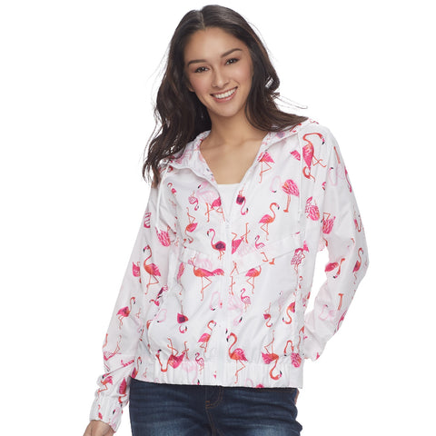 Flamingo Hooded Windbreaker Jacket - The Flamingo Shop