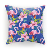 Tropical Blue Flamingo Pillow - The Flamingo Shop
