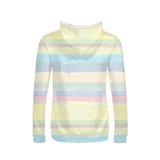 Flamingo Life Pastel Stripes Women's Hoodie - The Flamingo Shop