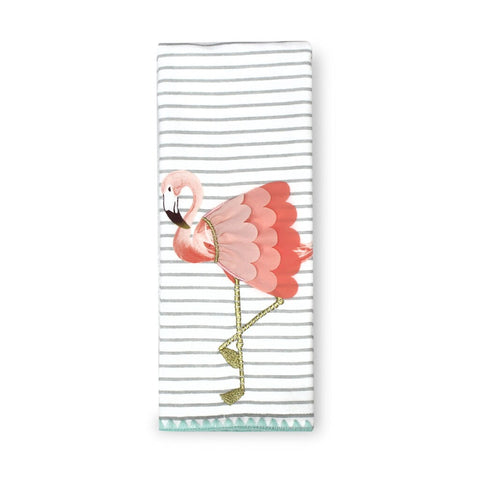 Fancy Decorated Flamingo Kitchen Towel