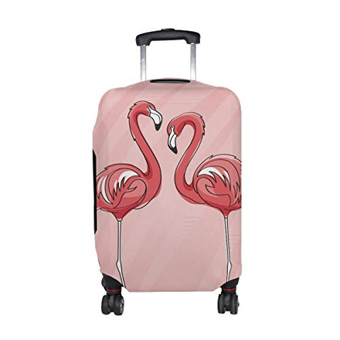 Flamingo Pattern Print Luggage Cover Suitcase Protector Fits 18-21 Inch Luggage - The Flamingo Shop