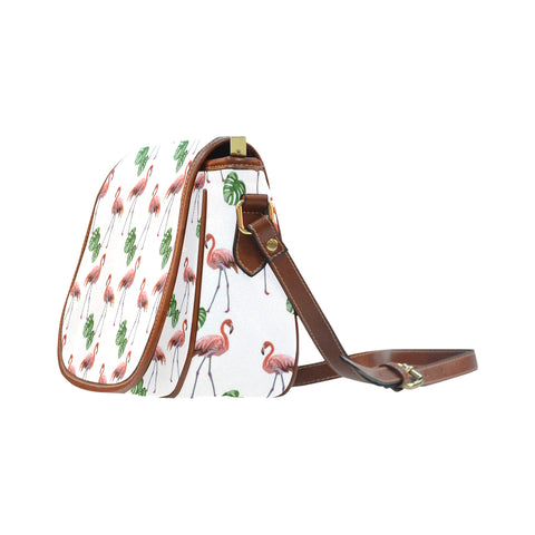 Flamingos Crossbody Saddle Bag