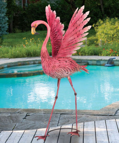 "48"" Large Flamingo Garden Statue - The Flamingo Shop"