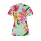 Flamingo Life Tropical Flowers T-Shirt - The Flamingo Shop