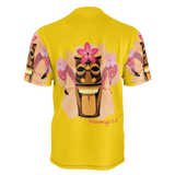 Flamingo Life Mens Tiki Head Printed Sleeve Tee - The Flamingo Shop