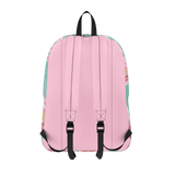 Flamingo Life Pink and Green Floral Backpack - The Flamingo Shop