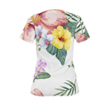 Flamingo Life Tropical Womens Tee - The Flamingo Shop