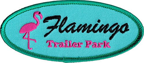 Flamingo Trailer Park Patch Badge RV Home Travel Embroidered Iron On Applique - The Flamingo Shop