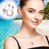Crystal Pink Flamingo Necklace Earrings and Bracelet Set with Gift Box - The Flamingo Shop