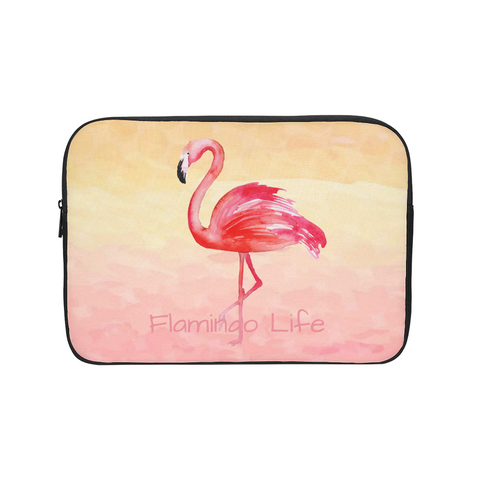 Flamingo Life Pink Sunrise Laptop Sleeve - The Flamingo Shop