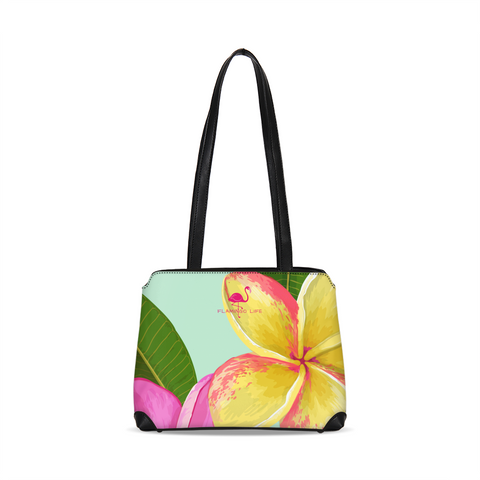 Flamingo Life Tropical Flowers Shoulder Bag - The Flamingo Shop