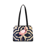 Spanish Tile Flamingo Purse Shoulder Bag