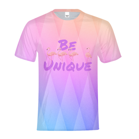 Be Unique Flamingo Kids Tee - The Flamingo Shop
