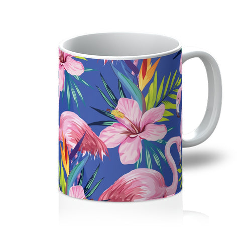 Tropical Blue Flamingo Mug