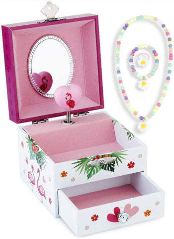 Musical Flamingo Jewelry Box with Toy Jewelry - The Flamingo Shop