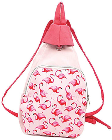 Convertible Flamingo Backpack Sling Bag