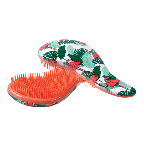 TANGLE FREE HAIR BRUSH (FLAMINGO)