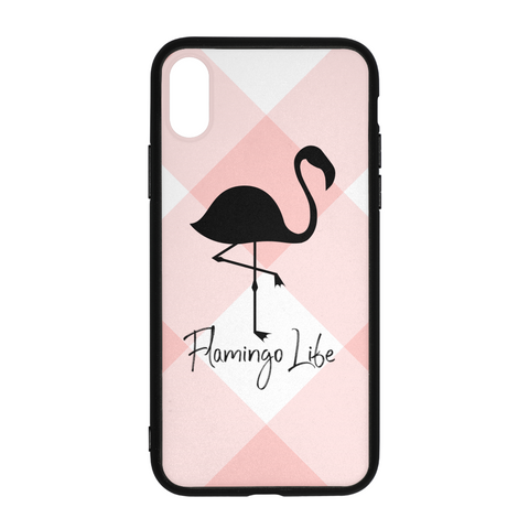 Flamingo Life Pink Plaid iPhone X Case - The Flamingo Shop
