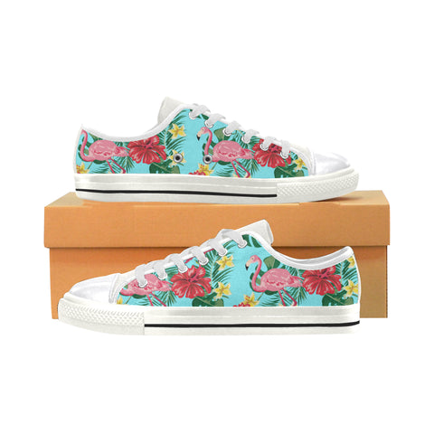Tropical Blue Flamingo Womens Sneakers (Large Sizes)