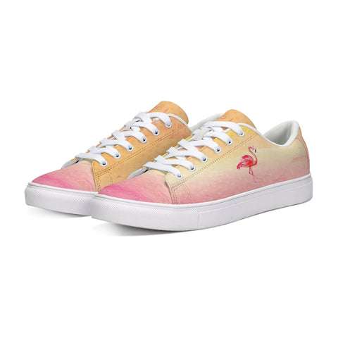 Flamingo Life Pink Sunrise Sneakers - Mens and Womens Sizes - The Flamingo Shop