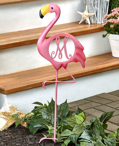 Flamingo Monogram Yard Stakes - The Flamingo Shop