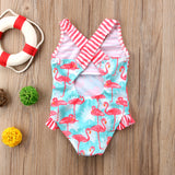 Toddler Flamingo One Piece Swimsuit with Ruffles - The Flamingo Shop