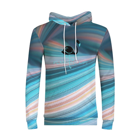 Flamingo Life Rainbow Swirl Men's Hoodie - The Flamingo Shop