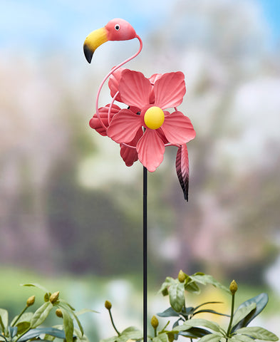 Flamingo Wind Spinner Stake - The Flamingo Shop