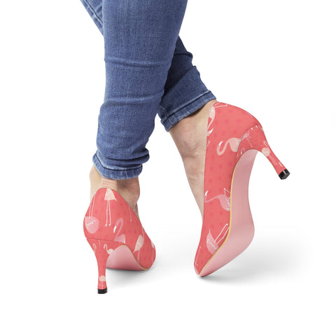 Pink Dots and Flamingos Women's High Heels - The Flamingo Shop