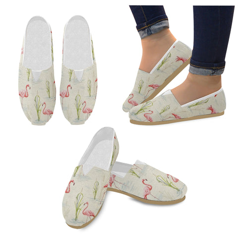 Vintage Look Flamingo Women's Canvas Shoes - The Flamingo Shop
