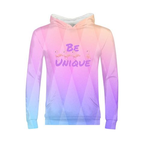 Be Unique Flamingo Kids Hoodie - The Flamingo Shop