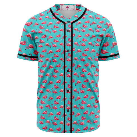 Blue Flamingo Baseball Jersey Sizes to 5XL - The Flamingo Shop