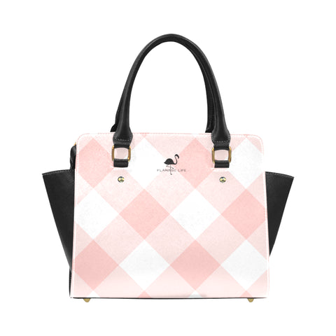Flamingo Life Pink and Black Shoulder Handbag - The Flamingo Shop
