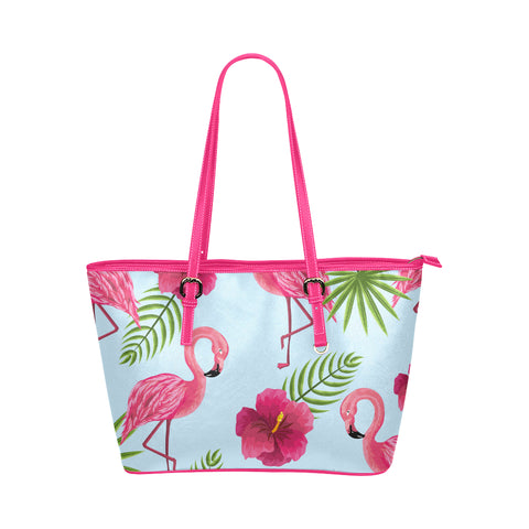 Flamingo PU Leather Tote - 2 Colors - The Flamingo Shop