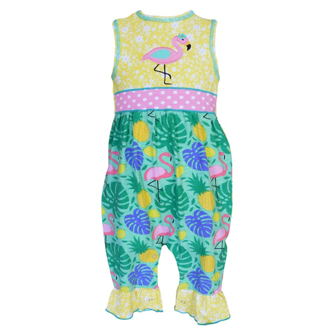 Baby Girls Tropical Flamingo Baby Romper - The Flamingo Shop
