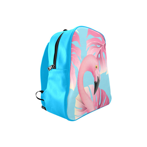 Blue Flamingo Child Size Backpack - The Flamingo Shop