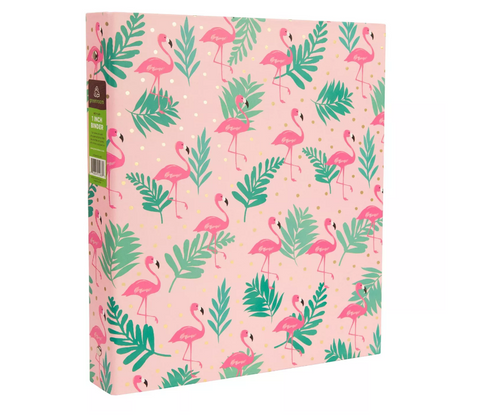 Flamingo 1 Inch - 3 Ring Binder - The Flamingo Shop