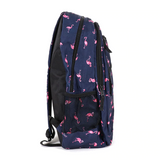 Navy Flamingo Backpack