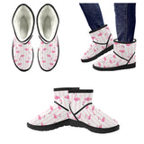 Flamingo Striped Low Top Snow Boots - The Flamingo Shop